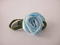 Цветок Роза голубая с листочками
