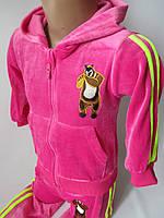 Яркие велюровые костюмы с полосками по бокам, фото 1