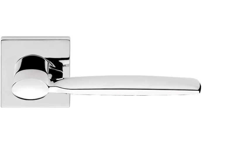 Ручка дверная Linea Cali Spring на 024 розетке, хром полированный