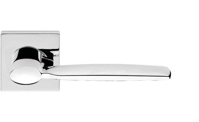Ручка дверная Linea Cali Spring на 024 розетке, хром полированный, фото 2