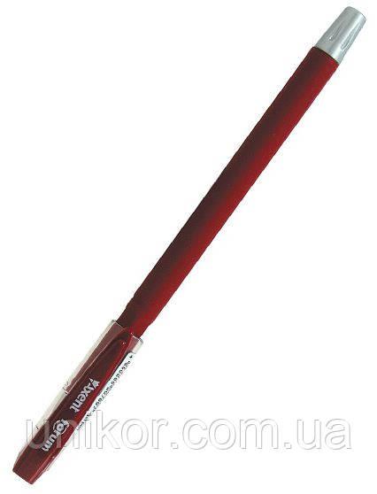 """Гелевая ручка """"Forum"""", прорезиненный корпус, 0,5 мм. стержень красный. AXENT"""