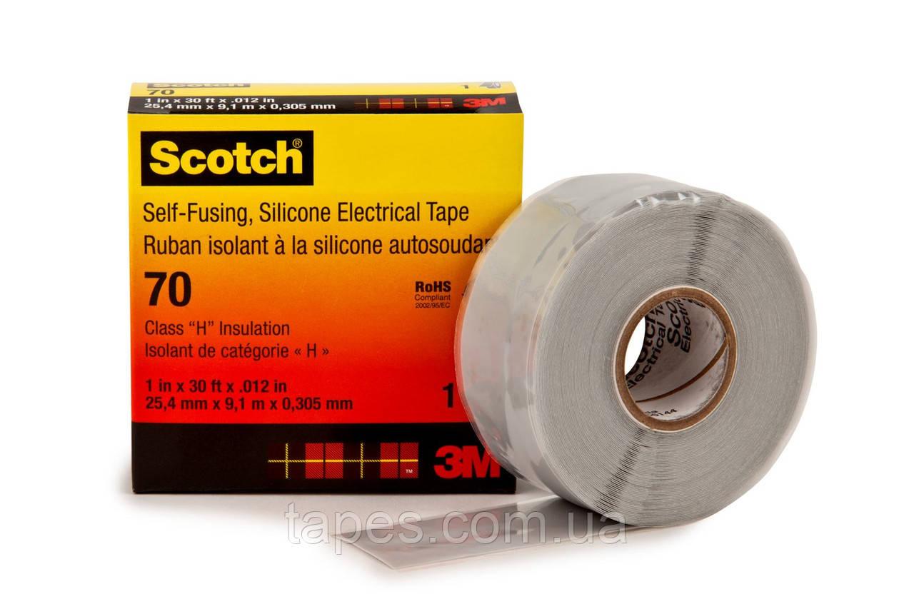 Самослипающаяся температуроустойчивая силиконовая лента 3М Scotch™ 70 (25мм х 9м х 0,3мм)