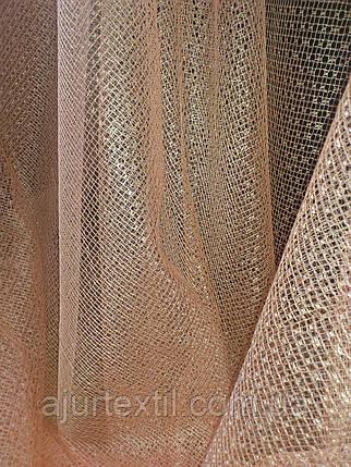 Тюль сетка персик, фото 2