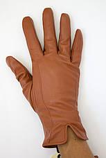 Женские цветные кожаные перчатки Маленькие, фото 3