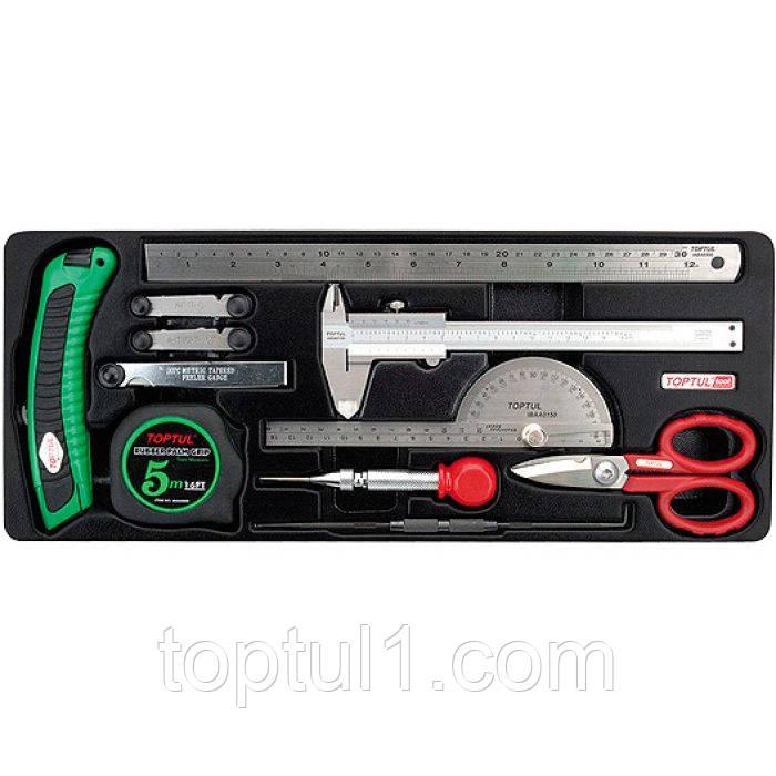 Набор мерительного инструмента TOPTUL GCAT1101  11 ед. (в ложементе)
