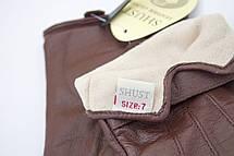 Коричневые женские кожаные перчатки Большие, фото 3