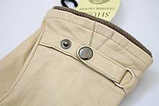 Бежевые кожаные перчатки Большие, фото 2