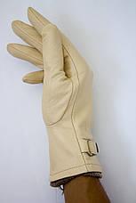 Бежевые кожаные перчатки Большие, фото 3