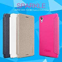 Кожаный чехол Nillkin Sparkle для Sony Xperia X Performance Dual (4 цвета)