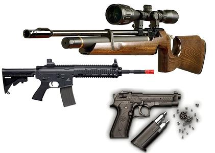 Пневматическое оружие и аксессуары к нему