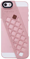 Чехол Momax Чехол-накладка + набор линз Momax X-Lens Rose Gold для iPhone 5/5S/SE (розовый)