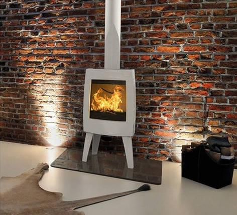 Печь камин чугунная DOVRE Sense 100 светло-серая, фото 2