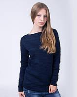 Интересная женская туника синего цвета