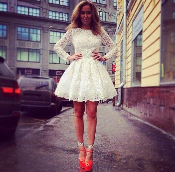 Платье короткое фатиновая юбка