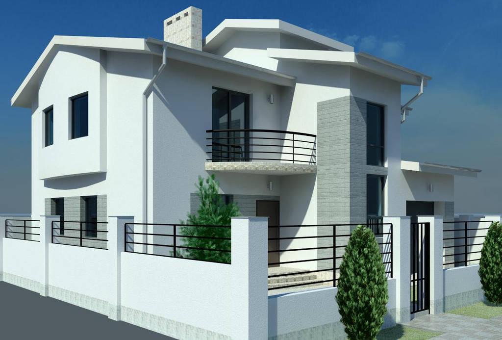Дизайн фасада для молодой семьи в пригороде Одессы