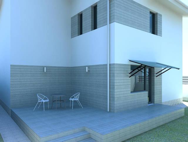 Дизайн фасада для молодой семьи в пригороде Одессы 7