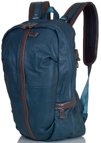 Оригинальный мужской рюкзак из натуральной кожи 20л ETERNO (ЭТЭРНО) ET88021-4 Зеленый