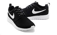 Кроссовки женские Nike Roshe Run D592 чёрные