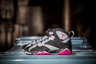"""Кросівки жіночі Nike Air Jordan 7 GS """"Fuchsia Flash"""" / AJW-317 (Репліка)"""