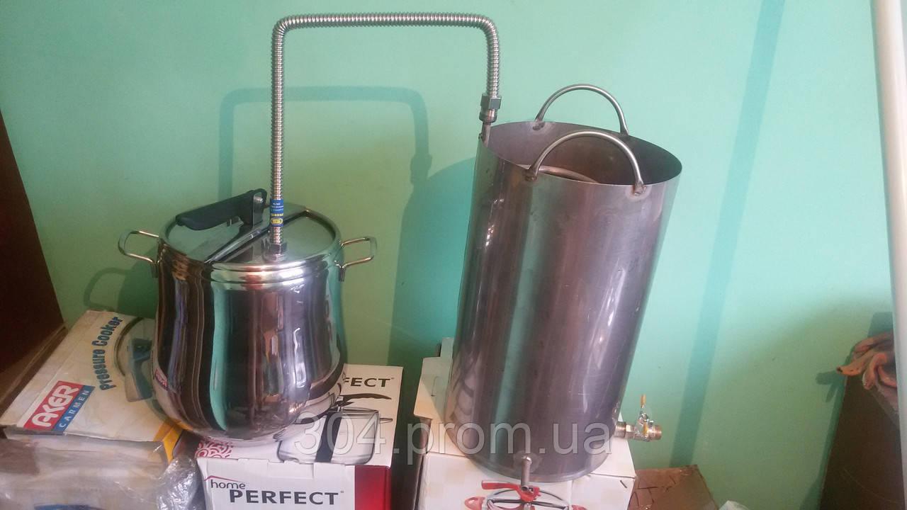 Самогонный дистиллятор под проточную воду самогонный аппарат люкс 12л добрый жар