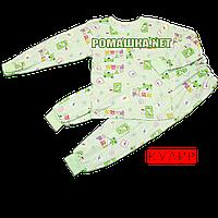 Детская пижама для мальчика тонкая р. 116 ткань КУЛИР 100% тонкий хлопок ТМ Алекс 3185 Зеленый
