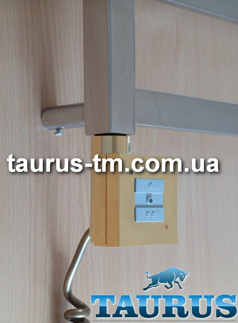 Квадратный золотой ТЭН TERMA KTX1 Gold с управлением 2 режима (50%-100%) + LED, Польша 1/2. Мощность:120-1000W
