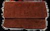 Женская сумка-клатч коричневая замша на плечо