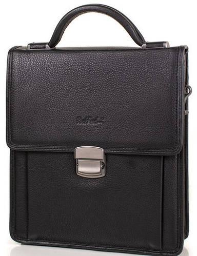 Мужская кожаная борсетка-сумка ROCKFELD (РОКФЕЛД) DS20-020656  Черная