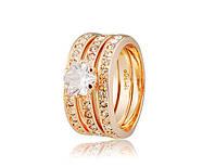 Кольцо «Каприз» с покрытием золотом 750 пробы, купить в Харькове, Украине