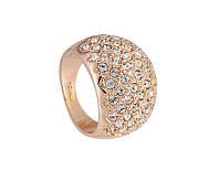 Кольцо «Изысканный кристалл» с покрытием золотом 750 пробы, купить в Харькове, Украине