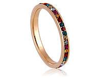 Кольцо «Обручальная радуга» с кристаллами Сваровски, купить в Одессе, Украине