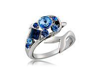 Кольцо «Романтика моря» с кристаллами Сваровски, купить в Киеве, Украине