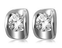 Серьги «Идеальный стиль» с кристаллами Сваровски, купить в Киеве, Украине