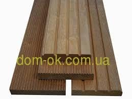 Террасная доска  из термососны толщина 30 мм, ширина 135 мм, длина 1500х4000 мм