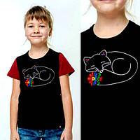 Вышитая футболка для девочки 'Маленькая лисичка-2', фото 1