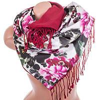 Нежный женский двусторонний палантин из шелка и шерсти 173 на 45 см Eterno ES2707-2-5 разноцвет