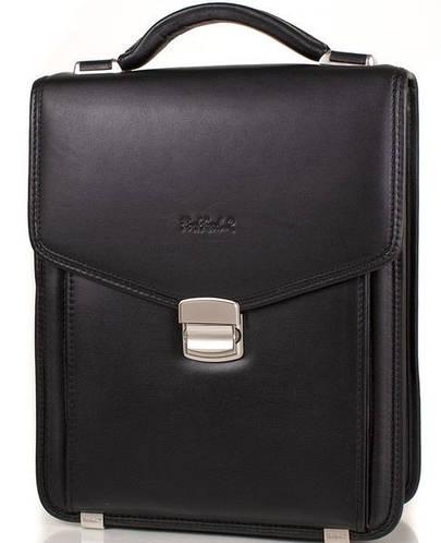Мужская стильная кожаная борсетка-сумка ROCKFELD (РОКФЕЛД) DS04-020813 Черная