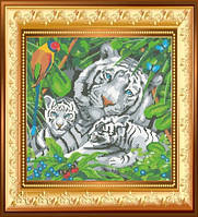 """Схема для вишивки бісером """"Білі тигри""""."""