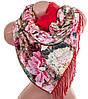 Яркий женский двусторонний палантин из шелка и шерсти 175 на 46 см Eterno ES2707-2-10 разноцвет