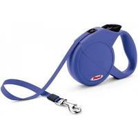 Поводок-рулетка для собак Flexi Mini Compact XS Dog (Флекси) синяя, лента 3м*12кг
