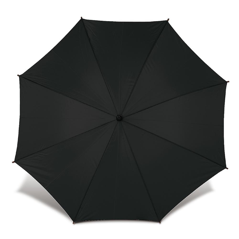 Зонт-трость под нанесение логотипа, полуавтомат, 103х90см, Черный