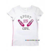 Футболка для девочки р-р 92-116 Smil 110399