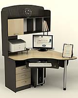 Компьютерный стол с полками, угловой Ск-26, венге- магия+ дуб молочный