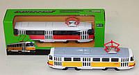 Игрушка модель АВТОПРОМ Трамвай 6411ABCD