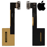 Шлейф для Apple iPad Pro 9.7, коннектора зарядки, с компонентами, оригинал (белый)
