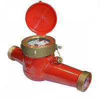 Счётчик горячей воды многоструйный Gross MTW-UA Ду 25 + штуцера