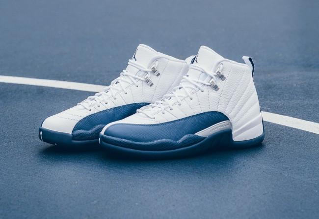 Кроссовки женские Nike Air Jordan 12 French Blue / AJW-347