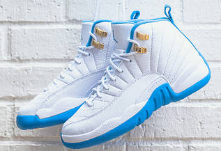 Кроссовки женские Nike Air Jordan 12 GS University Blue / AJW-349