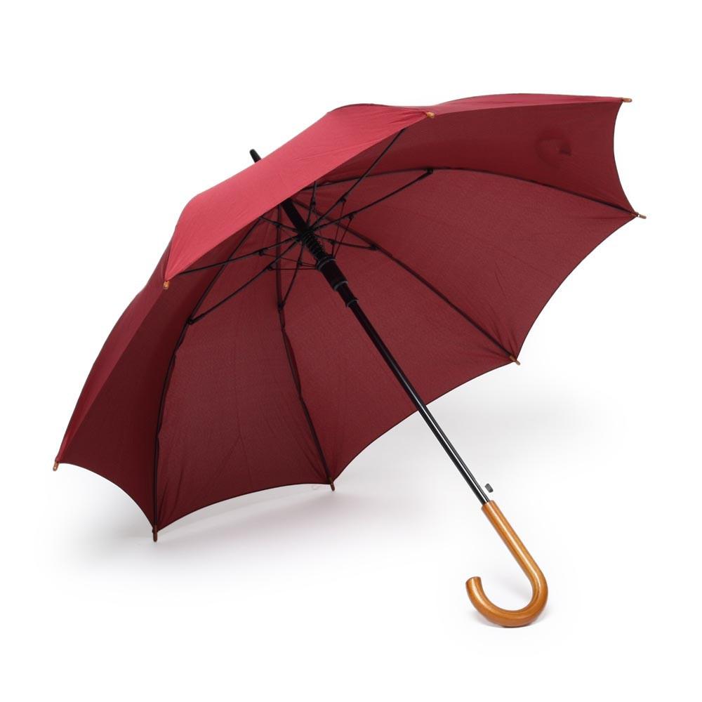 Зонт-трость под нанесение логотипа, полуавтомат, 101х87.5см., Бордовый