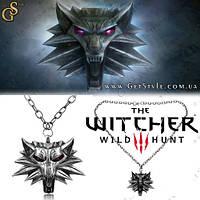 """Медальон ведьмака Геральта - """"The Witcher"""" - с красными глазами! , фото 1"""